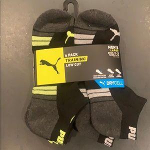 NWT Puma DRYCELL training ankle socks men's 6-12